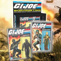 G.I. JOE Rock N' Roll and Snake Eyes Micro Figures