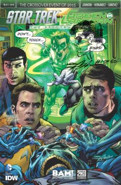 Green Lantern/Star Trek IDW/DC Crossover Comic Book (signed and numbered), with Original Neal Adams Green Lantern Remarque.