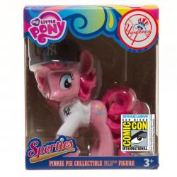 My Little Pony Pinkie Pie Vinyl Sporty Figure  in New York Yankees Jersey