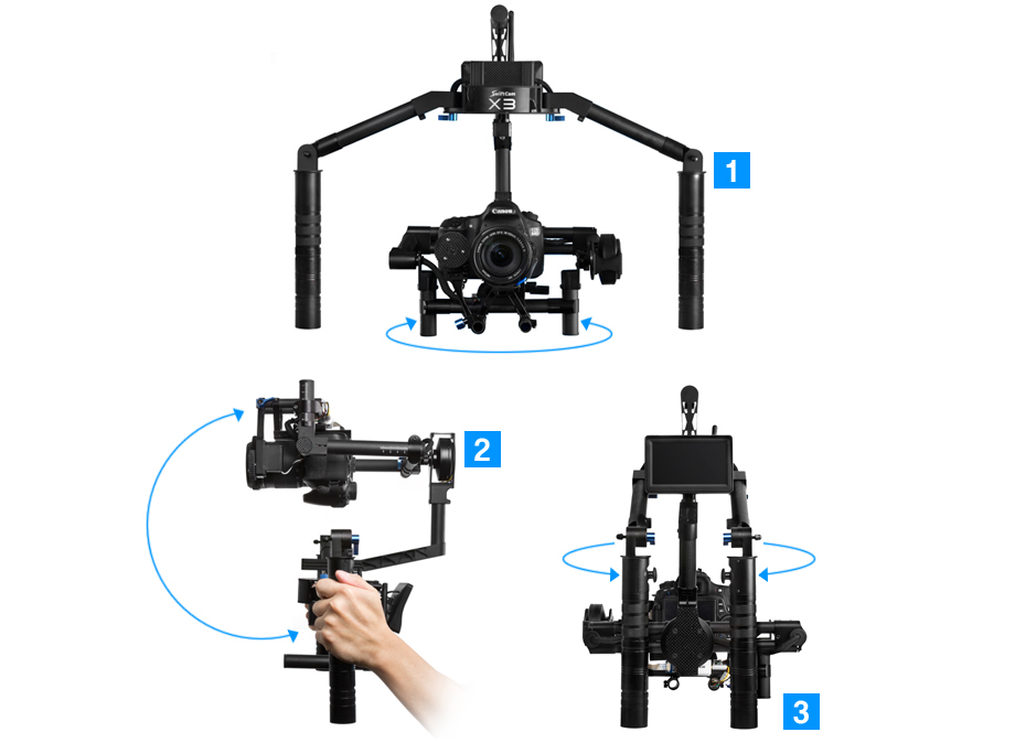 Swiftcam X3 3-axis Auto-stabilising Stabilizer Handheld