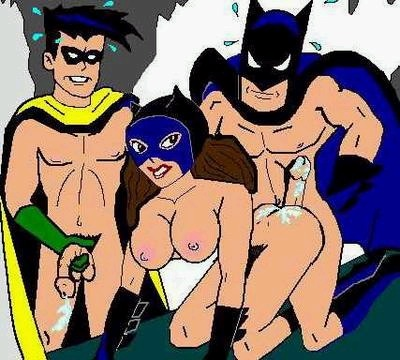 image 3 Take a look at batman threesome in the cave
