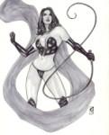 Selene as the Black Queen