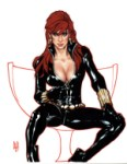 Black Widow by Adam Hughes