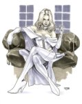 Emma Frost the White Queen by Asrar