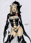 Emma Frost as the Black Queen