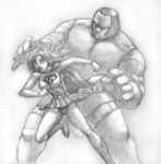 Supergirl vs Darkseid