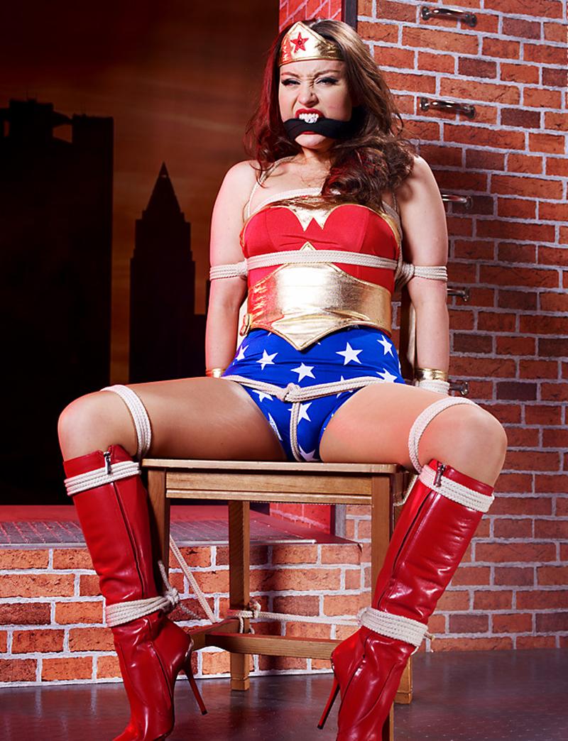 Necessary the wonder woman cosplay bondage