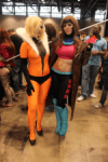 Cosplay – female versions of Sabretooth & Gambit
