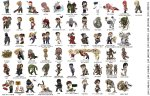 resident evil collection characters