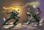 Ghost Rider Vs Ghost Busters