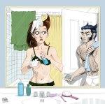 Rogue & Wolverine by Hamm