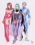 Scarlet Witch, Polaris, Quicksilver