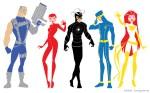 Cable, Rachel, Havok, Cyclops, and Jean