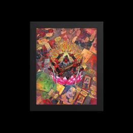 Deadpool – Zenpool Comic Canvas Framed Reproduction Print