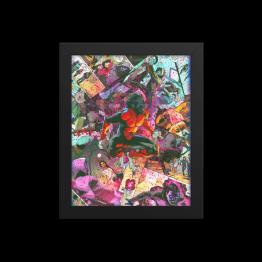 Nightcrawler – X-men Comic Canvas Framed Reproduction Print
