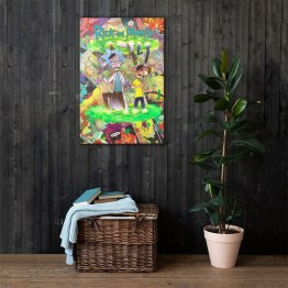 Rick and Morty Comic Canvas Reproduction