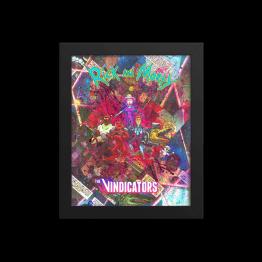The Vindicators – Rick and Morty Comic Canvas Framed Reproduction Print