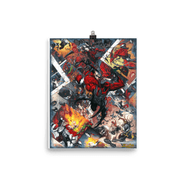 Carnage Canvas Collage Reproduction Print