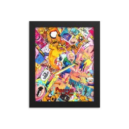 Adventure Time Comic Canvas Framed Reproduction Print