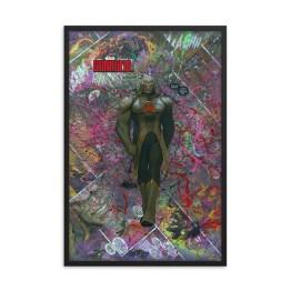 Darkseid Comic Canvas Framed Reproduction Print