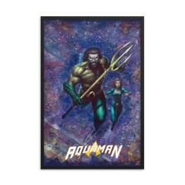 Aquaman #1 Variant Cover – First Edition DC Comics Canvas Framed Print