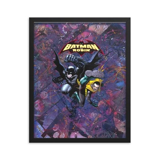 Batman and Robin #0 – DC Comic Canvas Framed Print