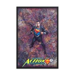 Superman Action Comics #961 – DC Comic Canvas Framed Print