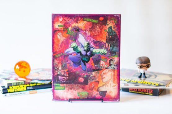 Martian Manhunter | One of A Kind Handmade DC Comic Book Canvas