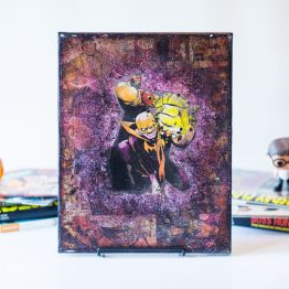 Luke Cage and Iron Fist | One of A Kind Handmade Marvel Comic Book Canvas