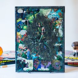 Green Arrow | New 52 | One of A Kind Handmade DC Comic Book Canvas