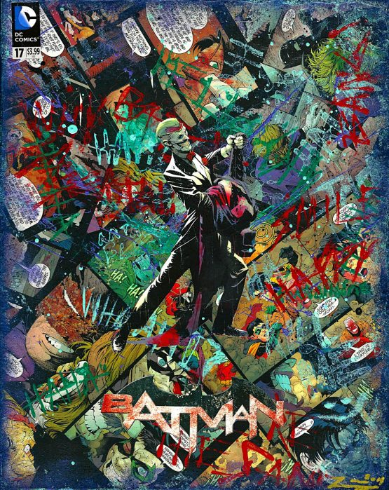 The Joker – Batman #17 Custom Variant Cover – One of A Kind DC Comic Book Canvas