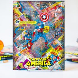 Captain America | True Believers #1 | One of A Kind Marvel Comic Book Variant Cover Canvas