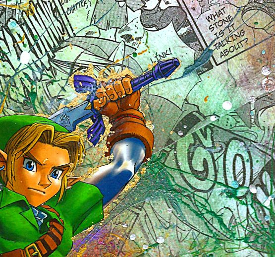 Kid Link | The Legend of Zelda | The Ocarina of Time | One of a Kind Nintendo Manga Collage Variant Canvas