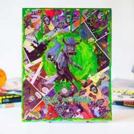 Rick and Morty | Sorca-Rick | Rick and Morty V Dungeons & Dragons #2 | One of a Kind Comic Collage Variant on Canvas