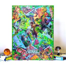 Green Lantern | Secret Origins #3 | One of a Kind JUMBO DC Comic Collage Variant Canvas