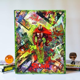 Spawn | Spawn #300 – King of the Dead Variant | One of a Kind JUMBO Image Comic Collage Variant Canvas