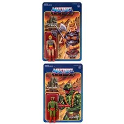 Battle Armor He-Man + Kobra Khan Masters of the Universe Figuras ReAction 10 cm Wave 3