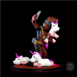 Marvel Diorama Q-Fig Deadpool unicornselfie 10 cm