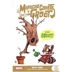 MARVEL YOUNG ADULTS. MAPACHE COHETE Y GROOT 01 BROTES VERDES