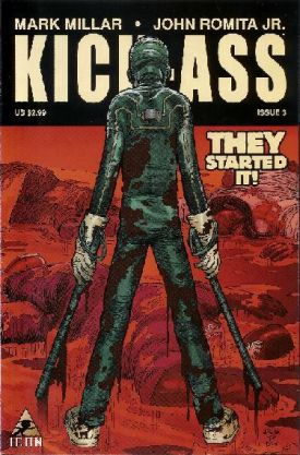 Cover to Kick-Ass #3 (image from Comic Book Bin)