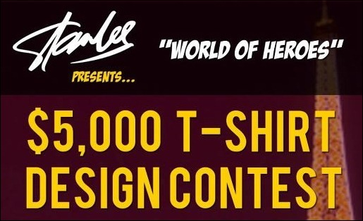 Stan Lees WORLD OF HEROES T Shirt Design Challenge
