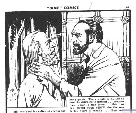 """From Dime Comics No. 7 """"The Curse of the Crawling Death"""""""