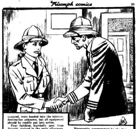 """From Triumph Comics No. 10 (""""Desert Outpost"""" story)"""