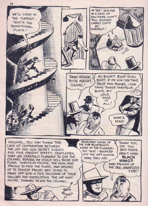 Bert Bushell from The Black Wing in Lucky Comics 10