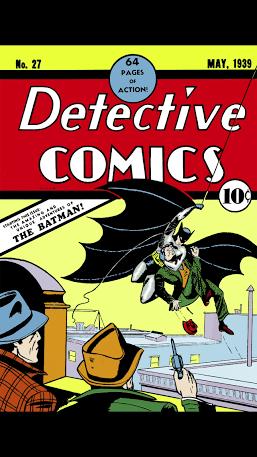Batman's first appearance in comics
