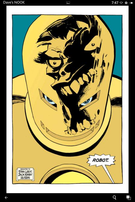 Hulk reflected in Iron Mans helmet