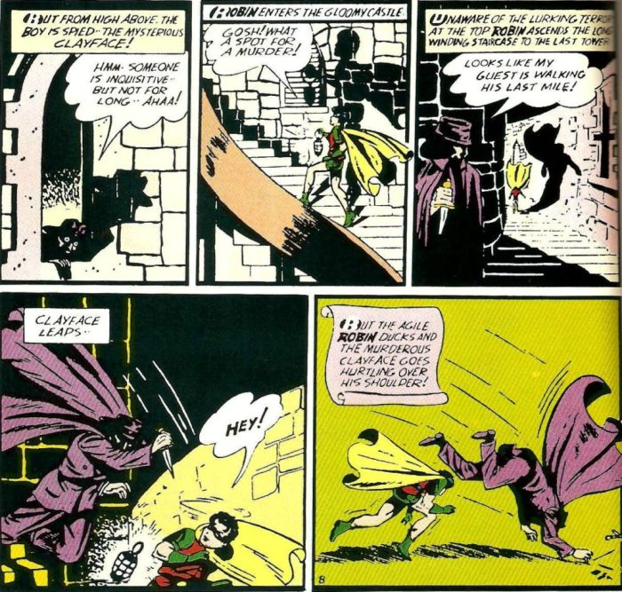 Robin stalked by Clayface early comics