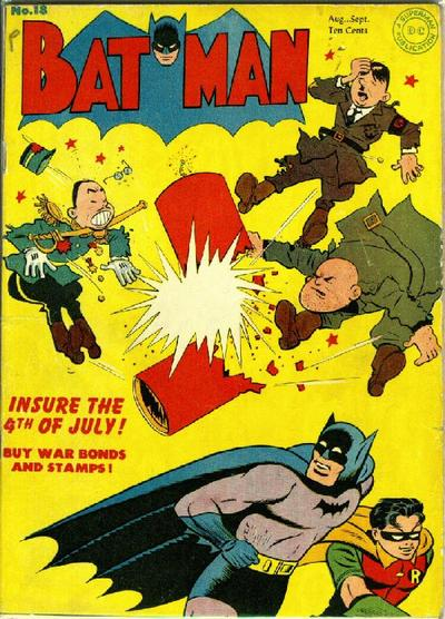 Sprang's first Batman cover for DC Comics! And check out Hitler in the upper left hand corner…'Insure the 4th of July'!