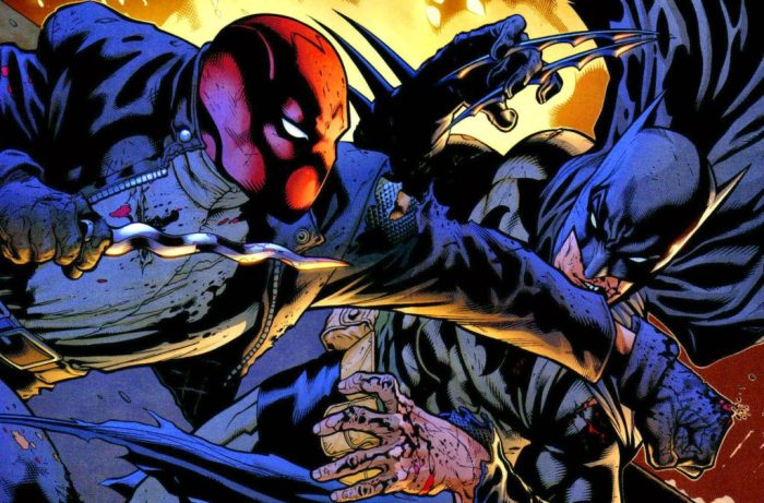 batman fights red hood