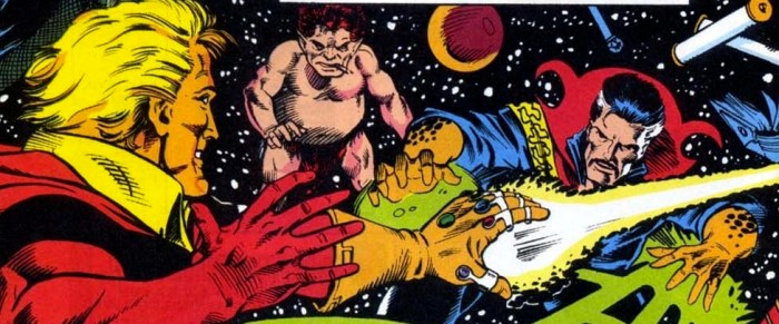 Doctor Strange takes on Adam Warlock and the Power Gem!